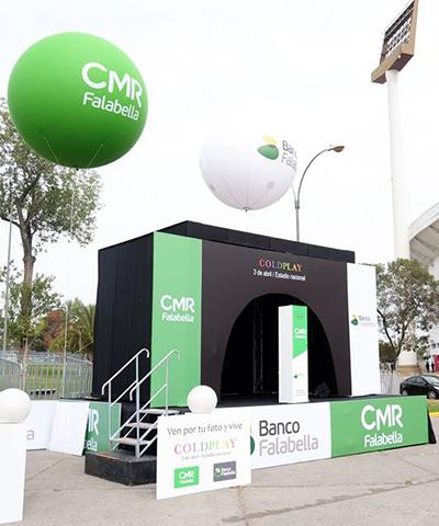 CMR y Banco Falabella / Activación Coldplay